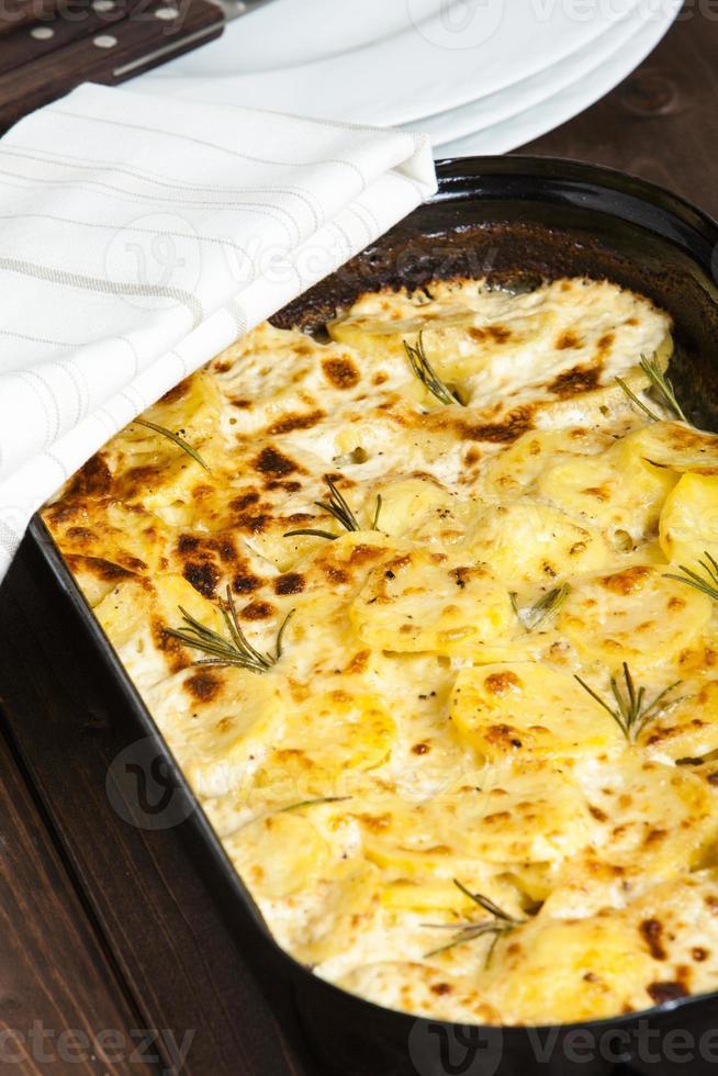 aardappelgratin foto