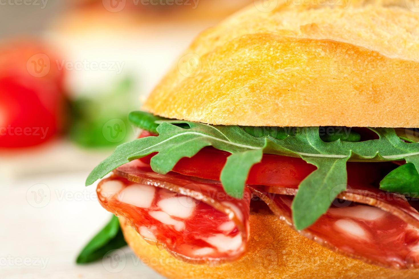 stokbrood sandwich close-up foto