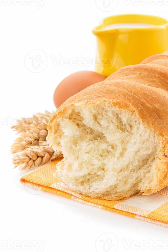 vers brood op wit foto