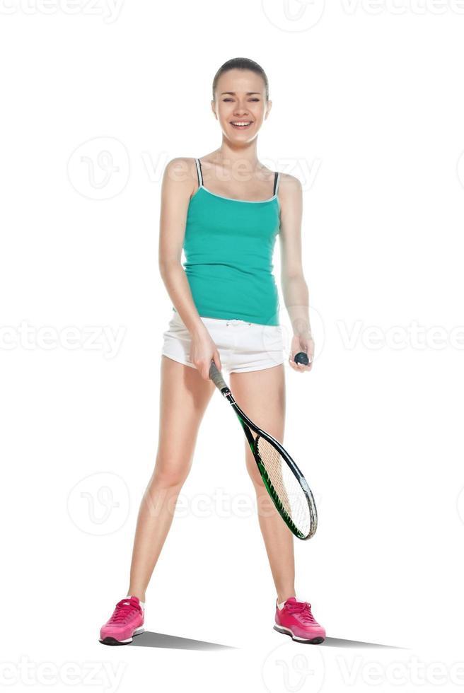 vrouw squash spelen foto