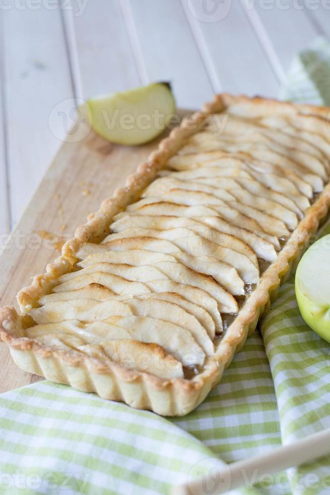 appel kaneel taart selectieve aandacht foto