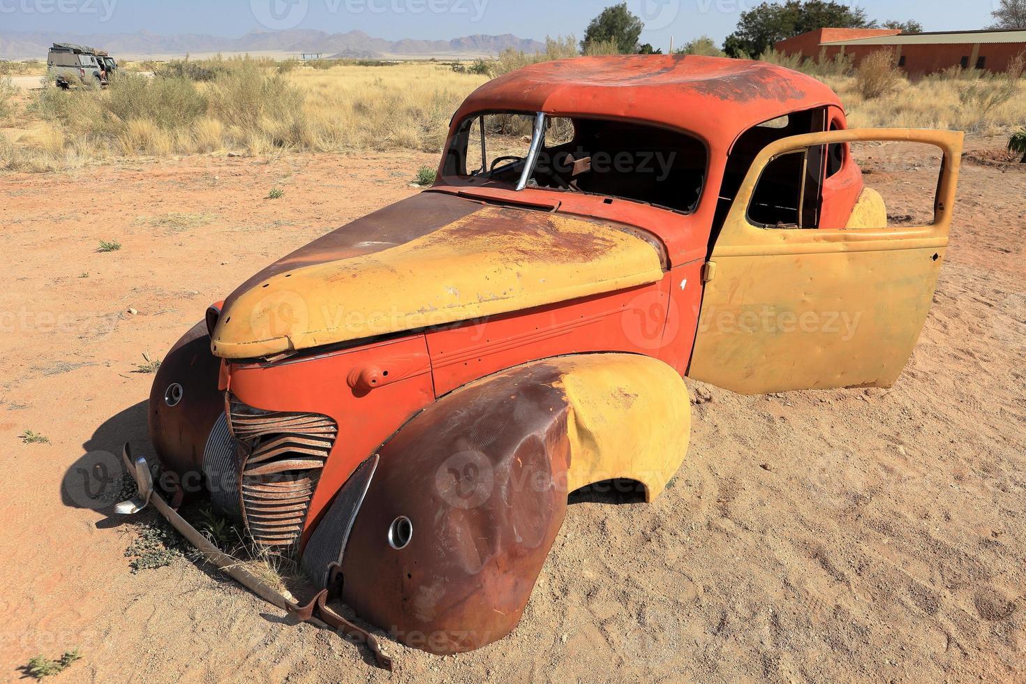 schrottautos in Namibië foto