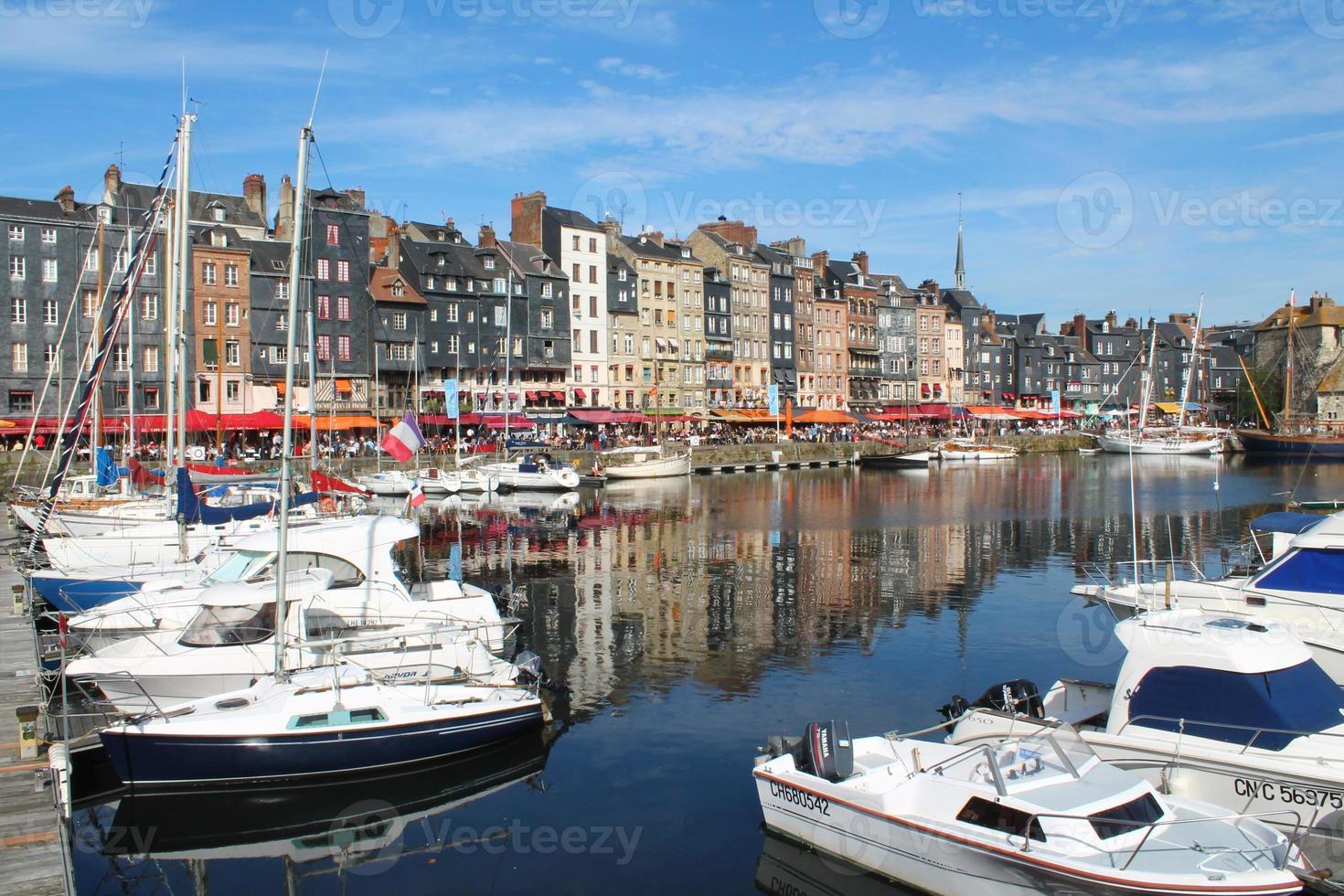Vieux Bassin D'Honfleur, Frankrijk foto