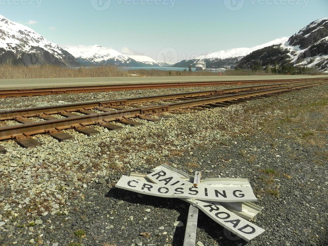 Alaska spoorweg foto