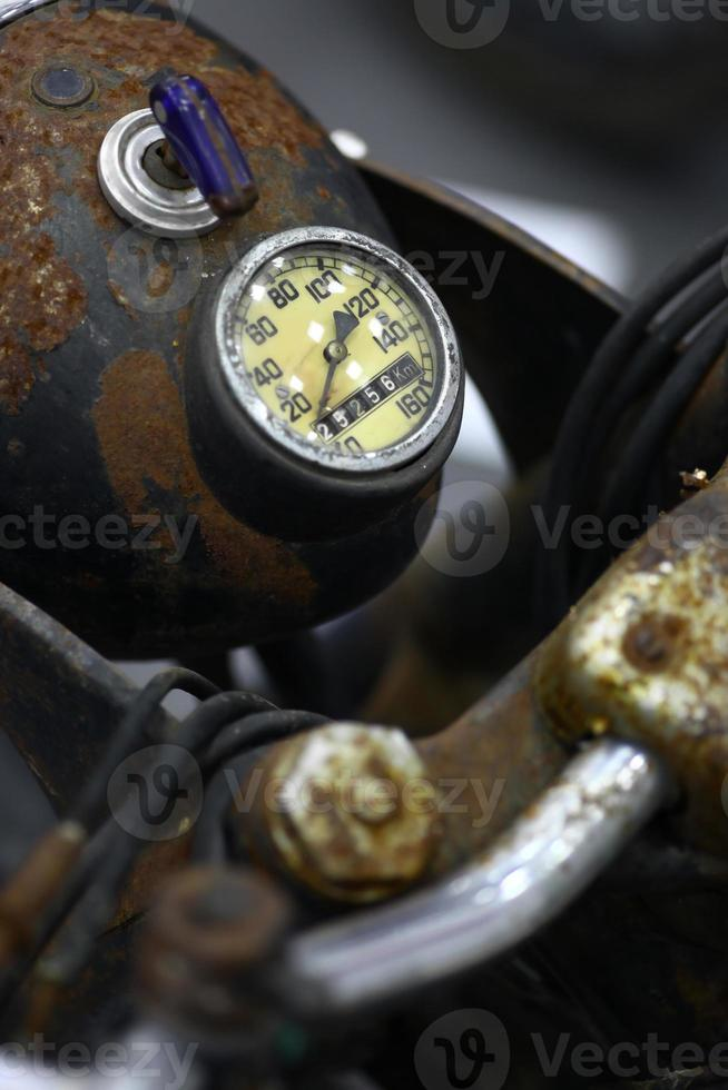 motorfiets snelheidsmeter foto