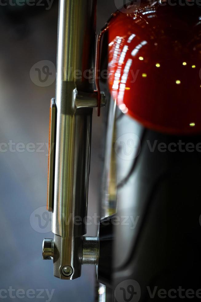 motorfiets voorwielophanging foto