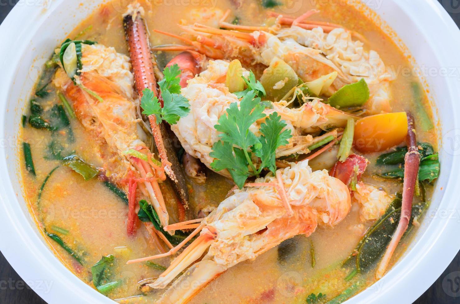 tomyam kung, favoriet grote garnalen Thais eten foto