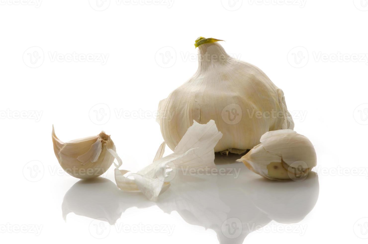 knoflook en kruidnagel foto