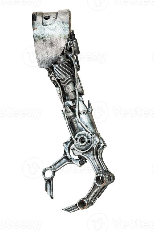 metalen robothand foto
