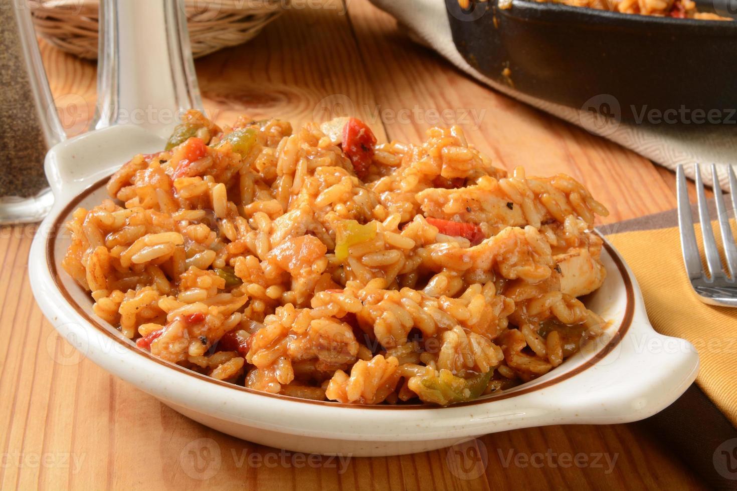 kip fajita met rijst foto