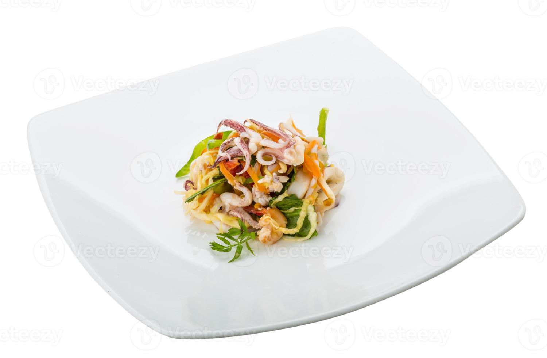 Aziatische zeevruchtensalade foto