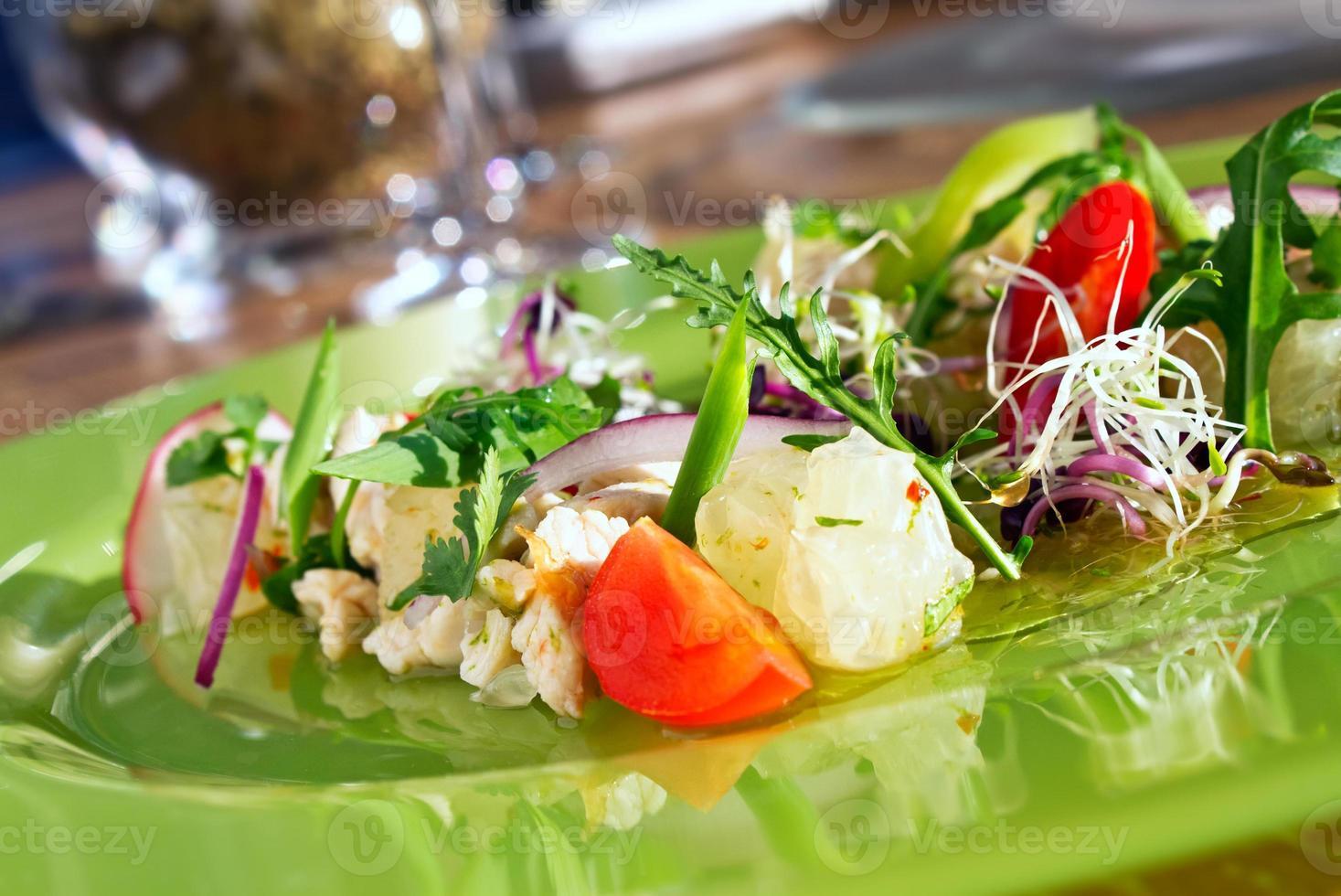 kip salade foto