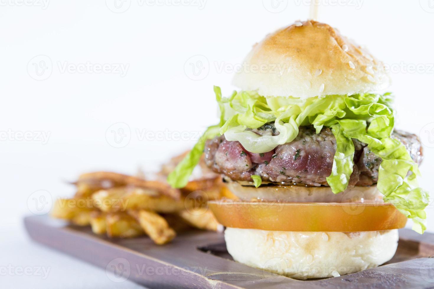 huisgemaakte hamburger foto