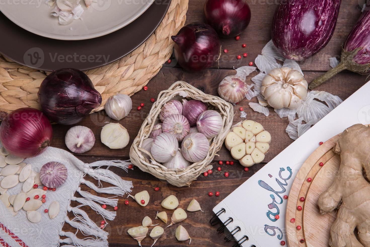 garlik en uien foto