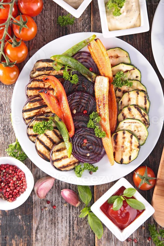 gegrilde groente foto