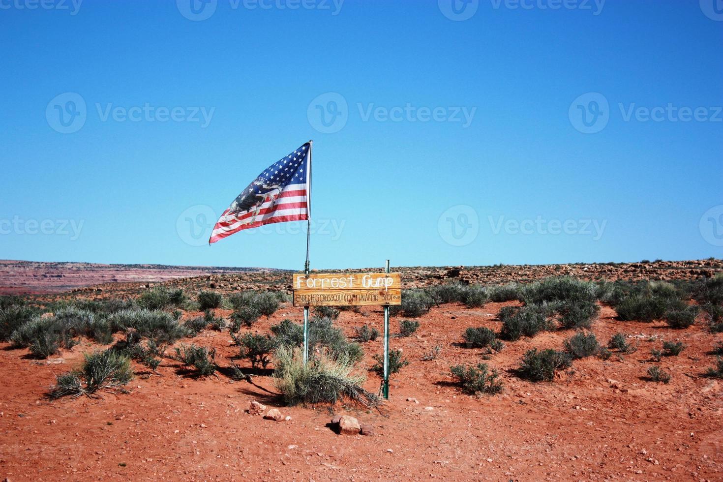 Forrest Gump Highway 163 in Utah, Verenigde Staten foto