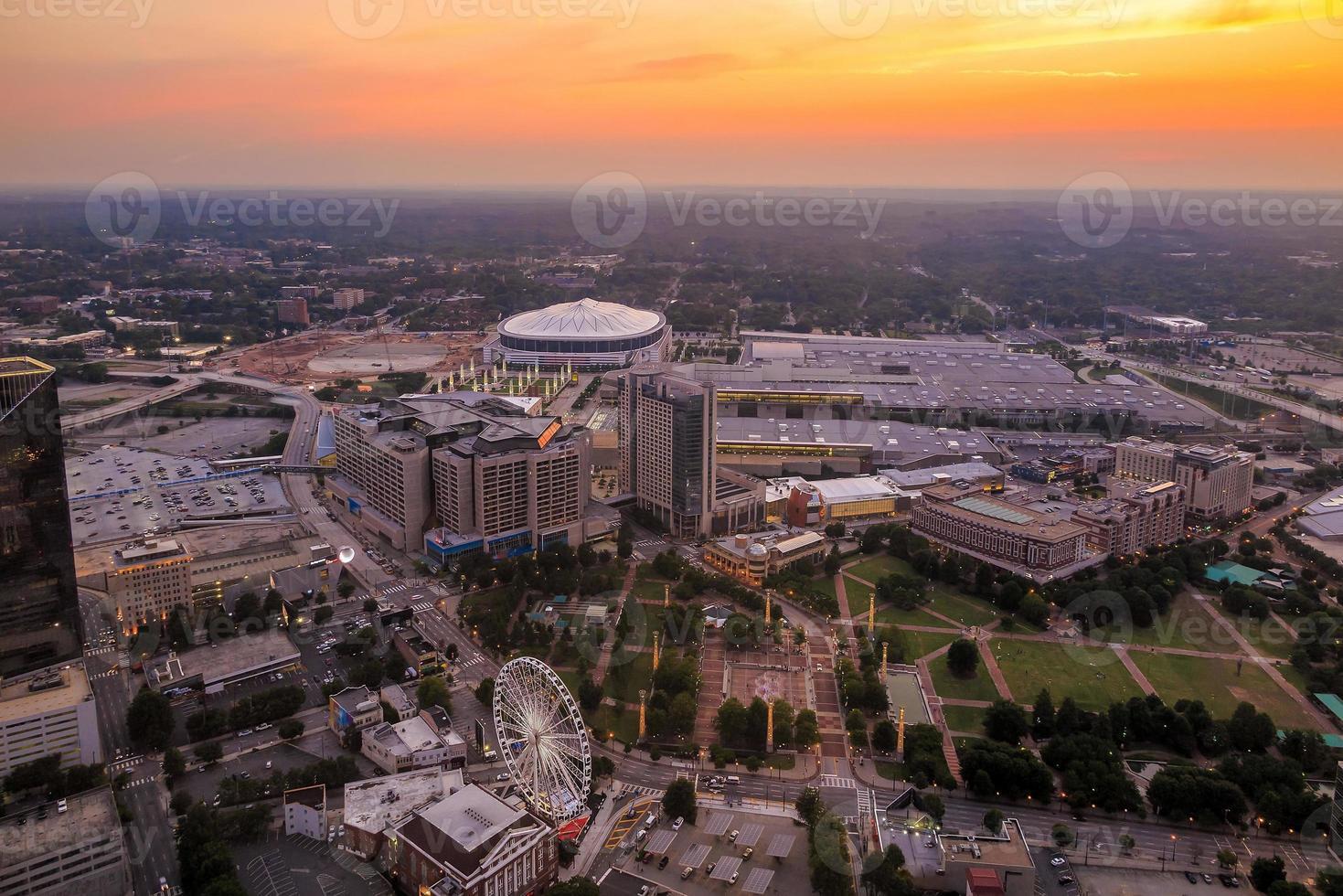 skyline van het centrum van Atlanta, Georgië foto