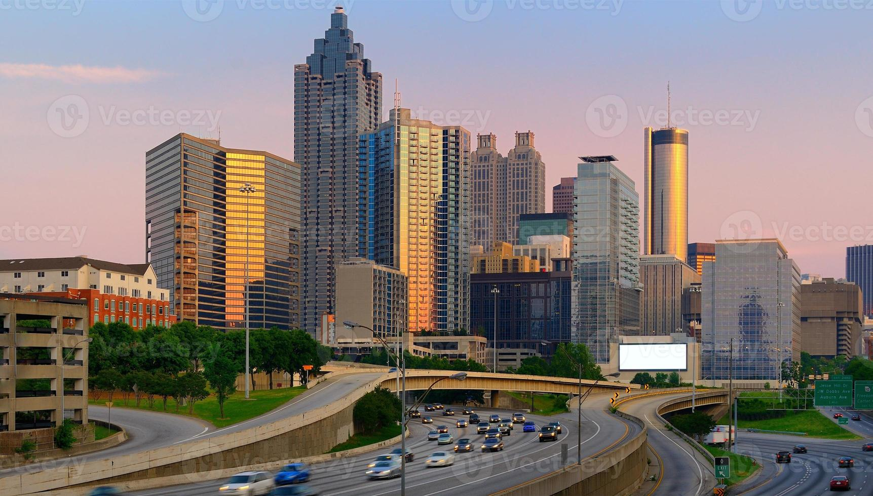 Atlanta Georgia in de schemering foto