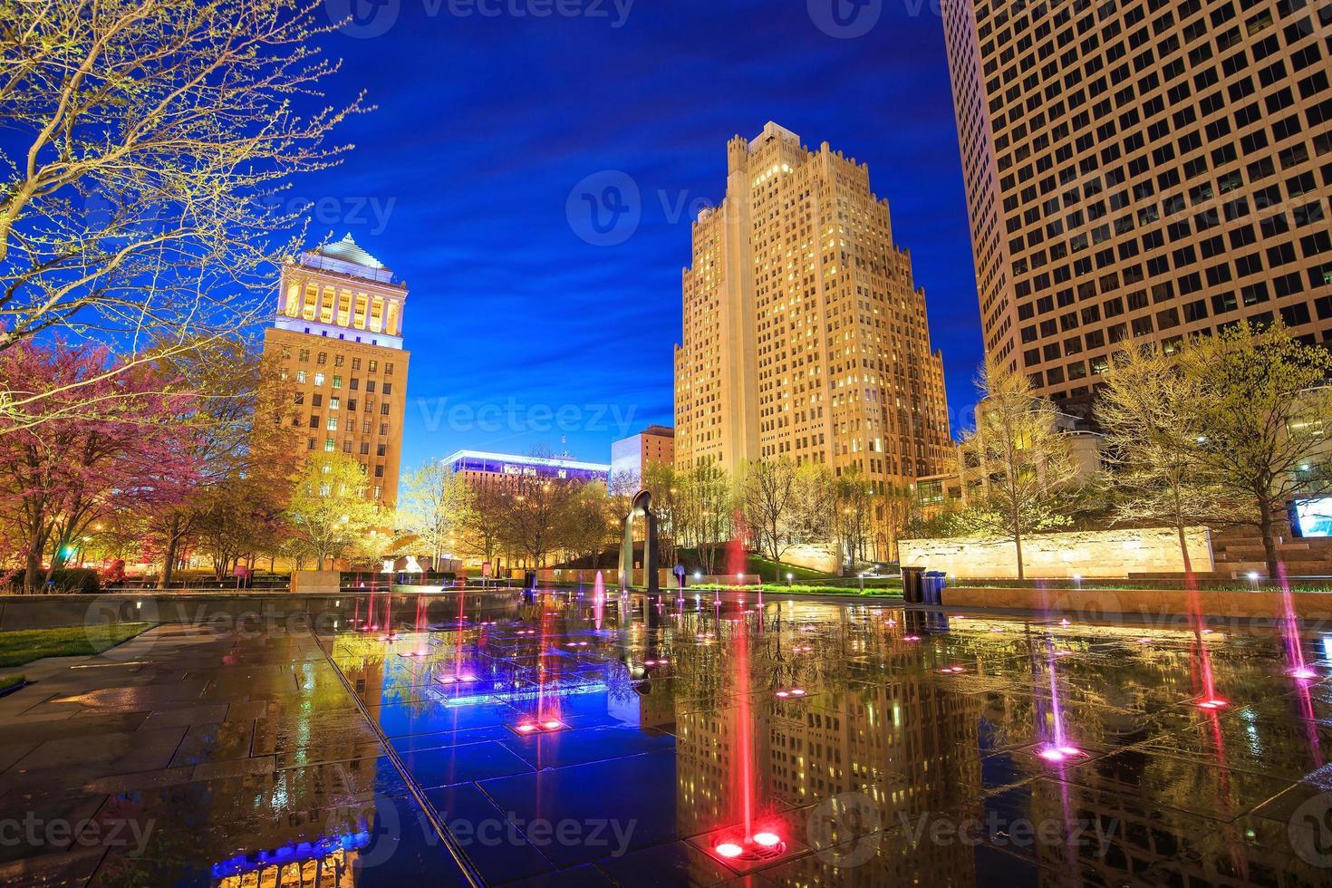 openbare stadstuin in het centrum van st. Louis foto