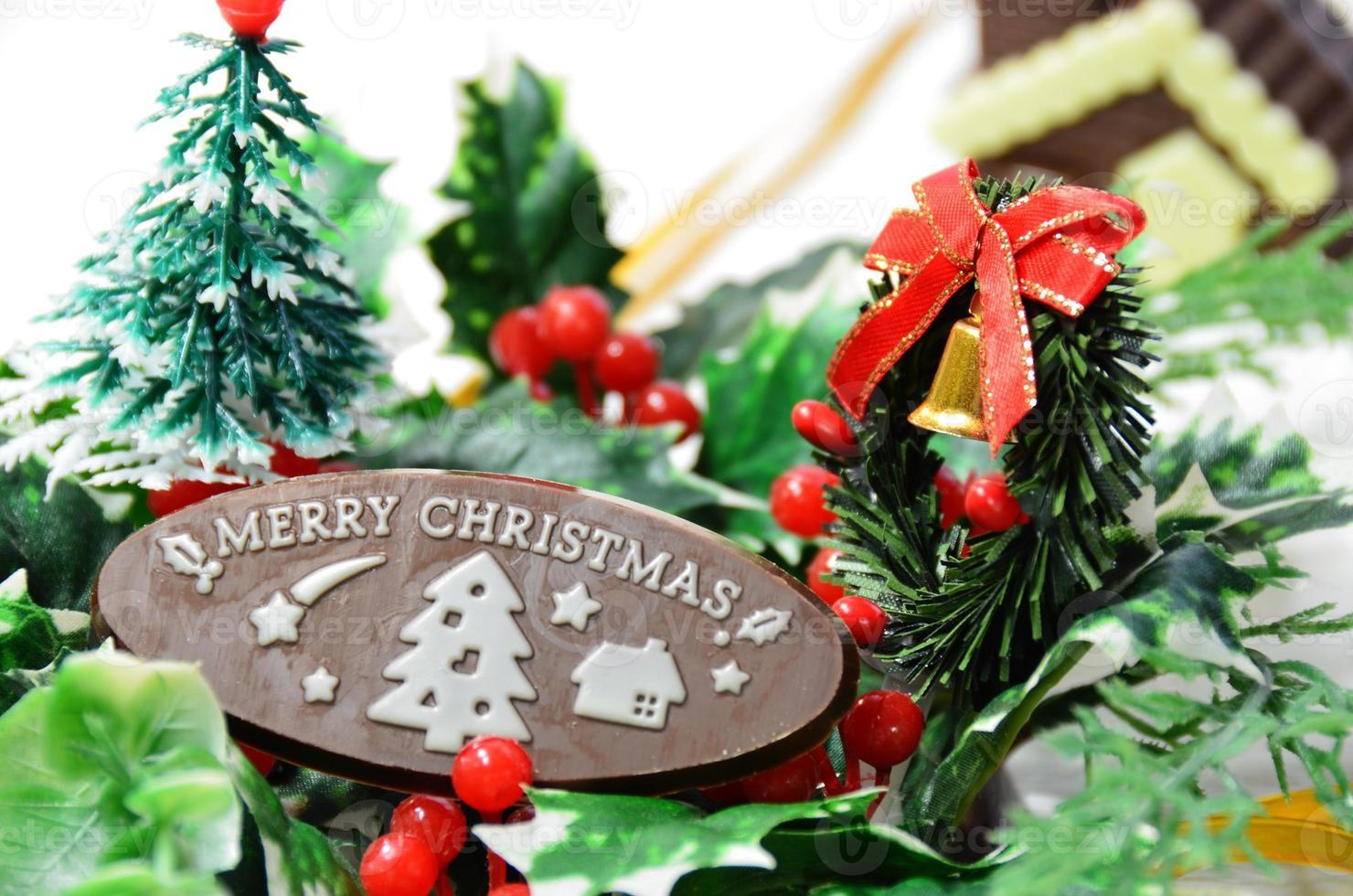 kerst ornament op witte achtergrond foto