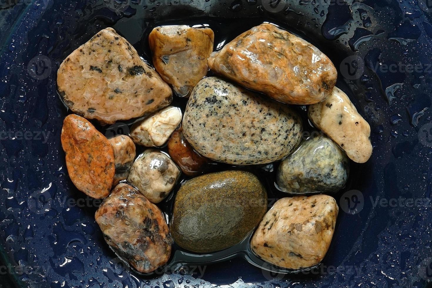 rivier zee stenen foto