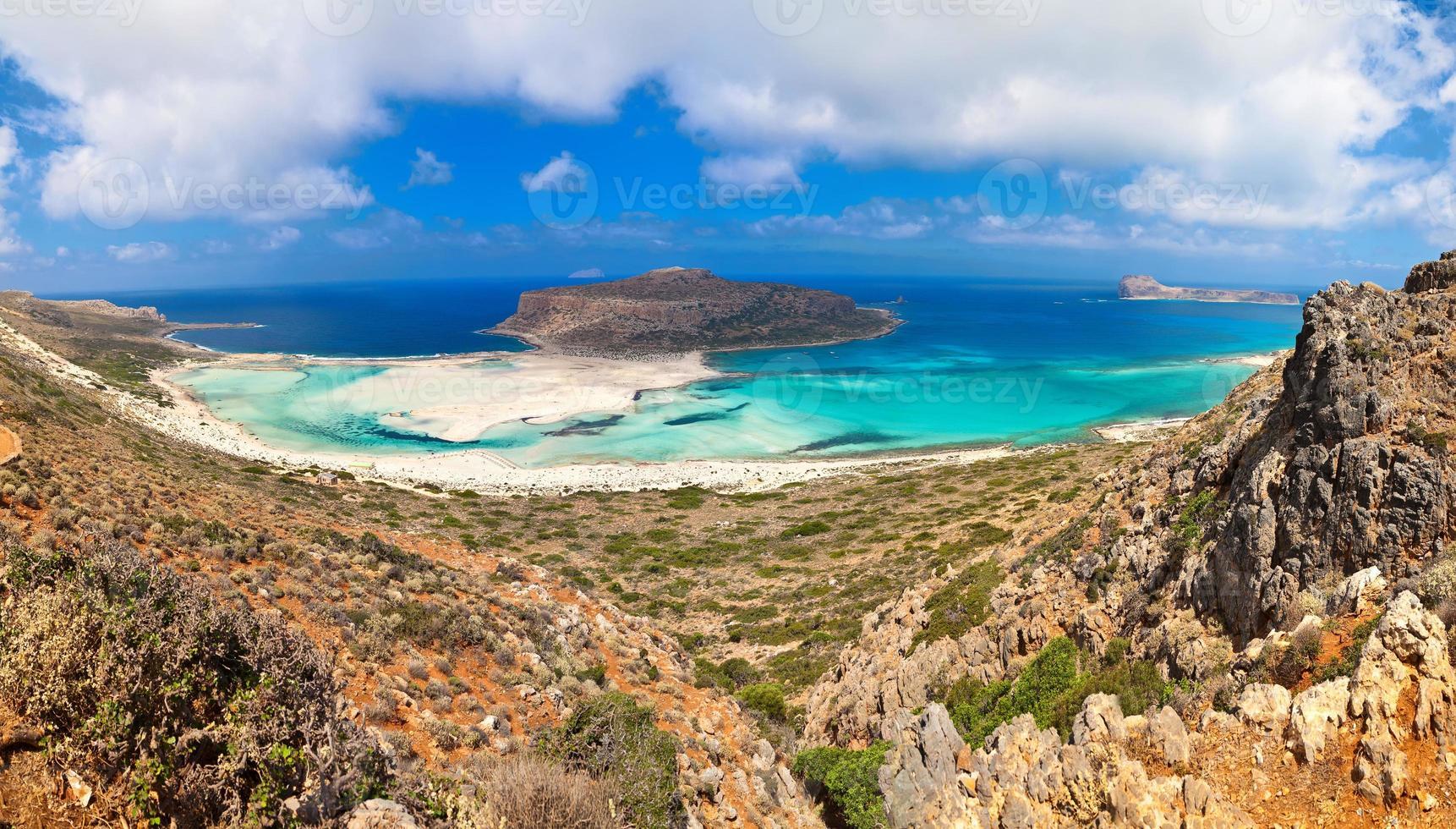 panorama van Balos lagune foto