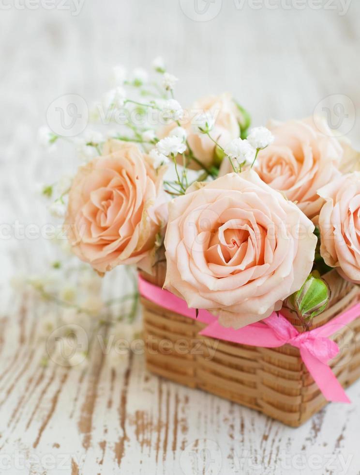 lichtroze rozen foto