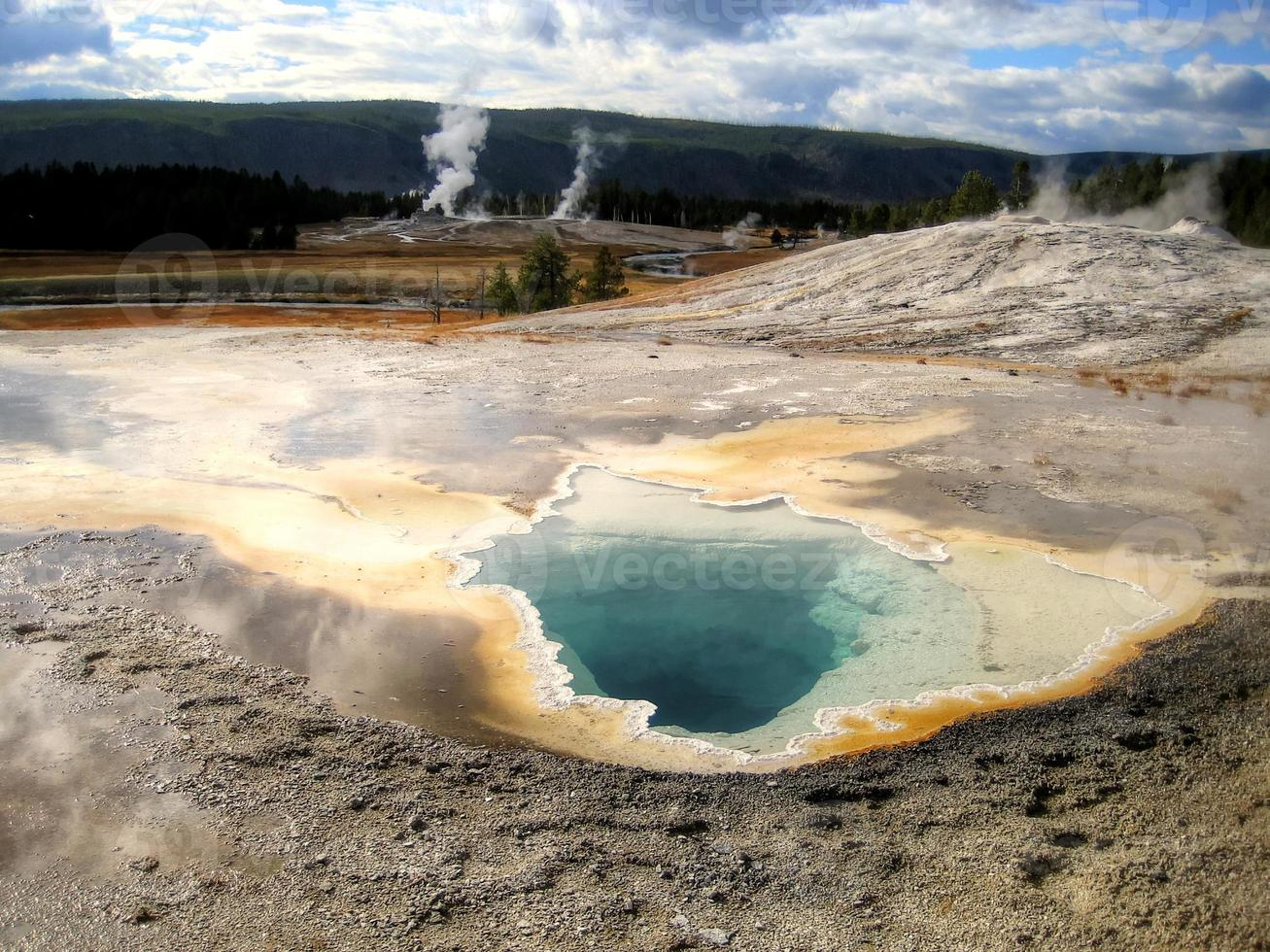 schoonheidsbassin in Yellowstone (Wyoming, VS) foto
