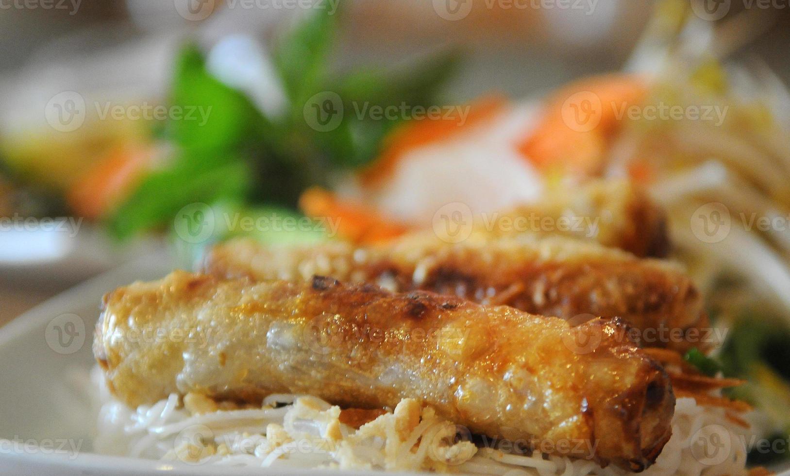 Vietnamees eggroll close-up foto