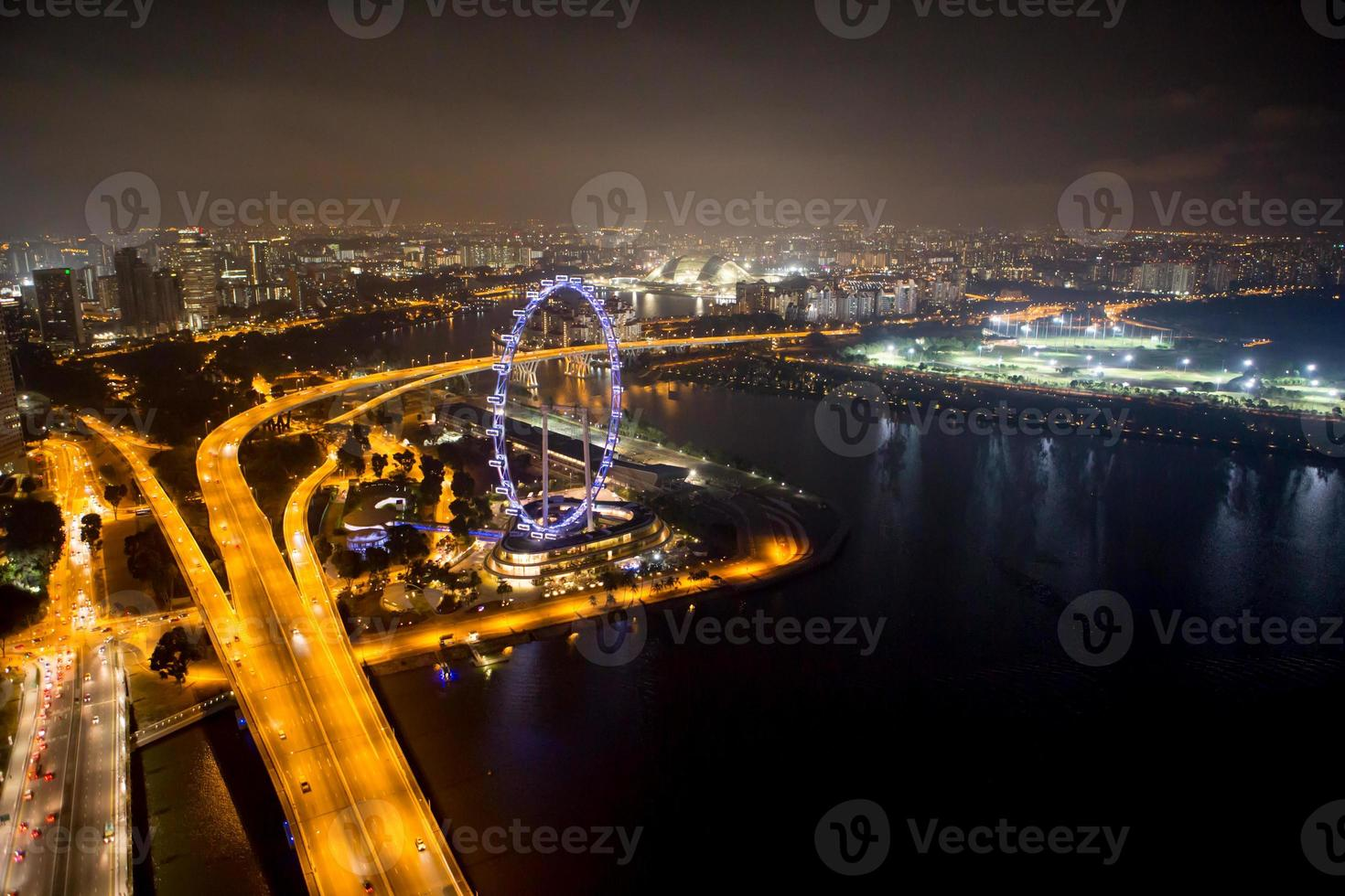 singapore in de nacht. foto