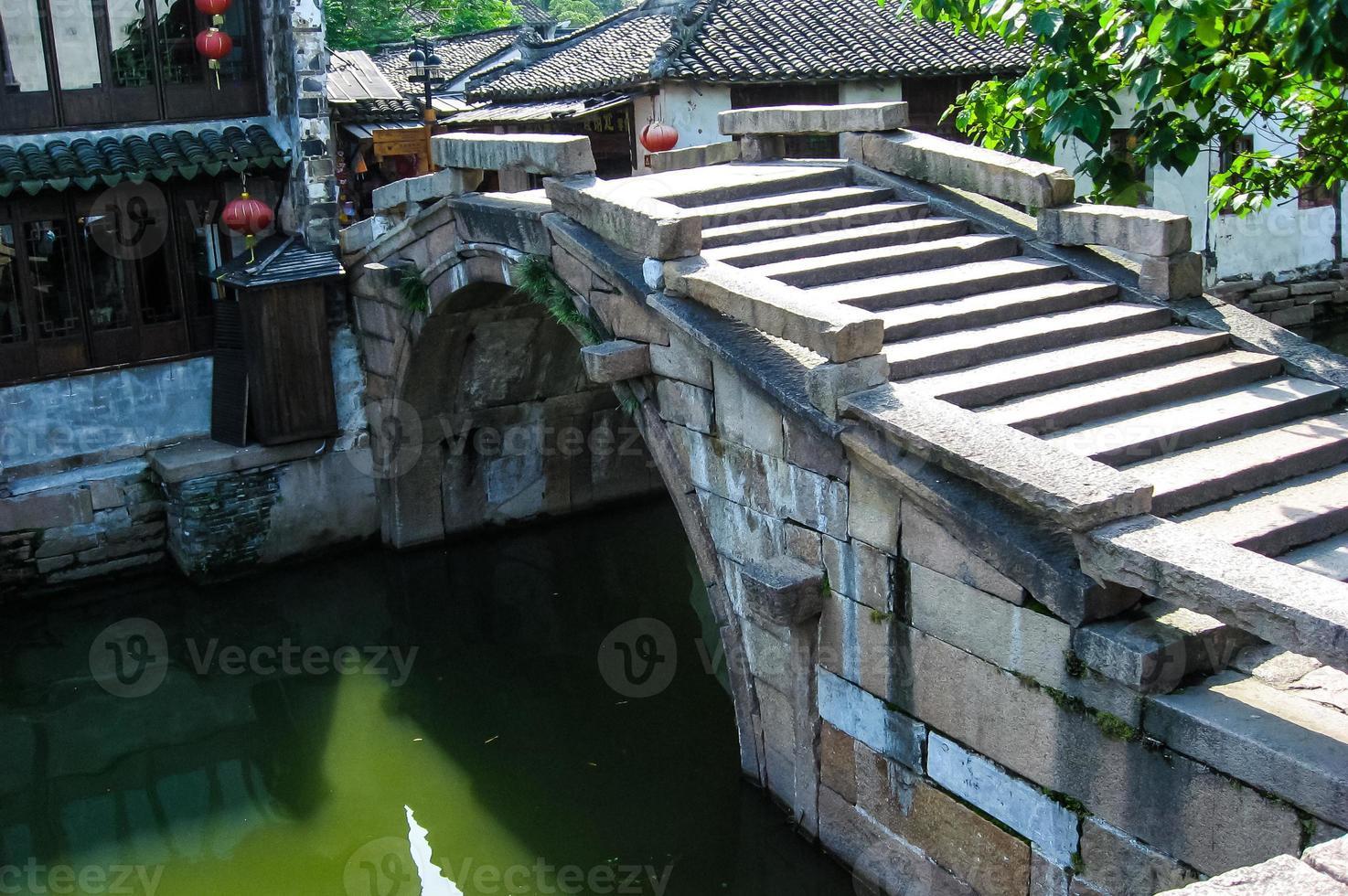 scènes uit suzhou, ook wel chinees venetië genoemd foto