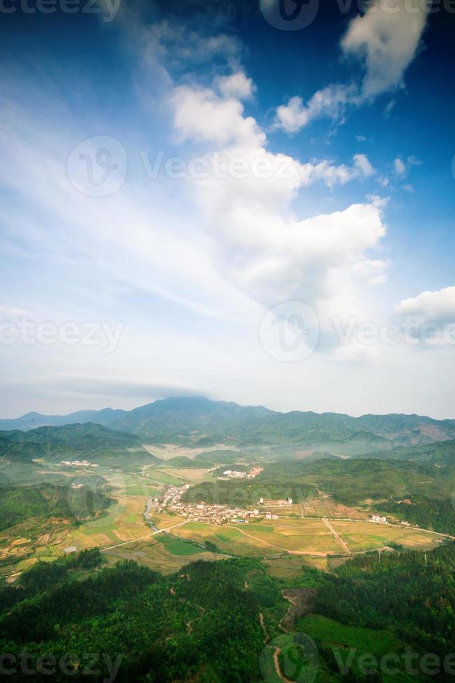 dorp in de vallei foto