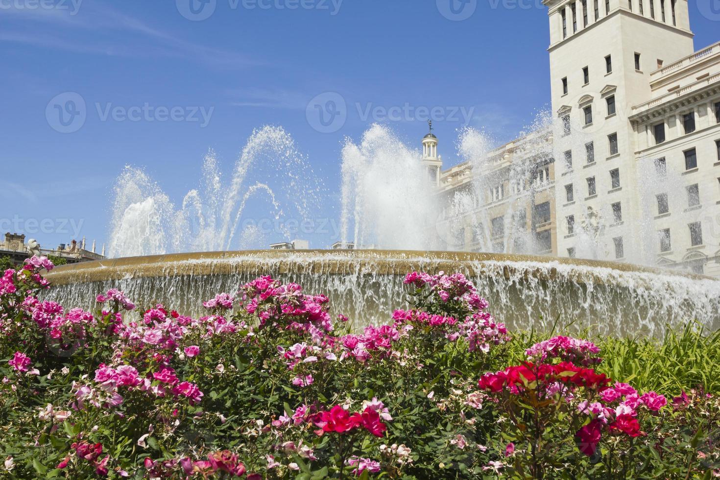 Catalonië vierkant. Barcelona, Spanje. foto