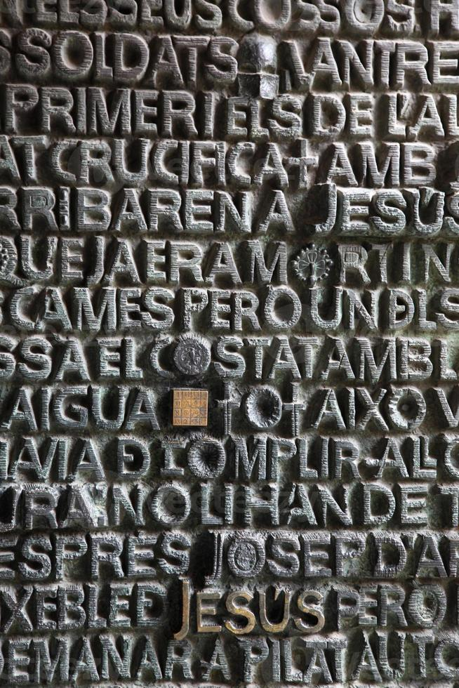 sagrada família kerk in barcelona foto