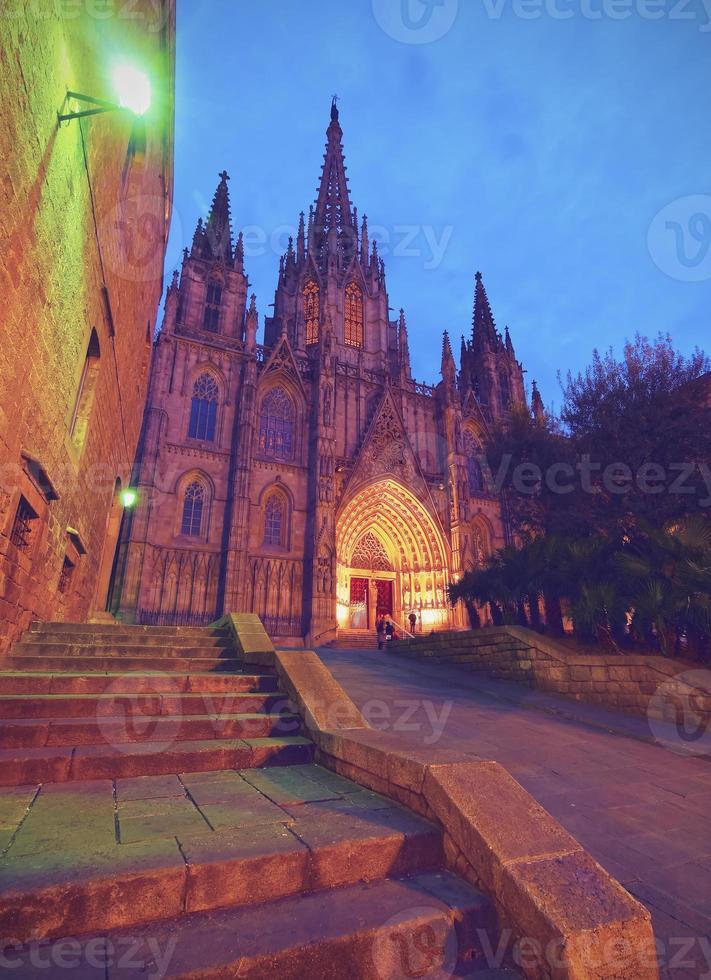 kathedraal in barcelona foto