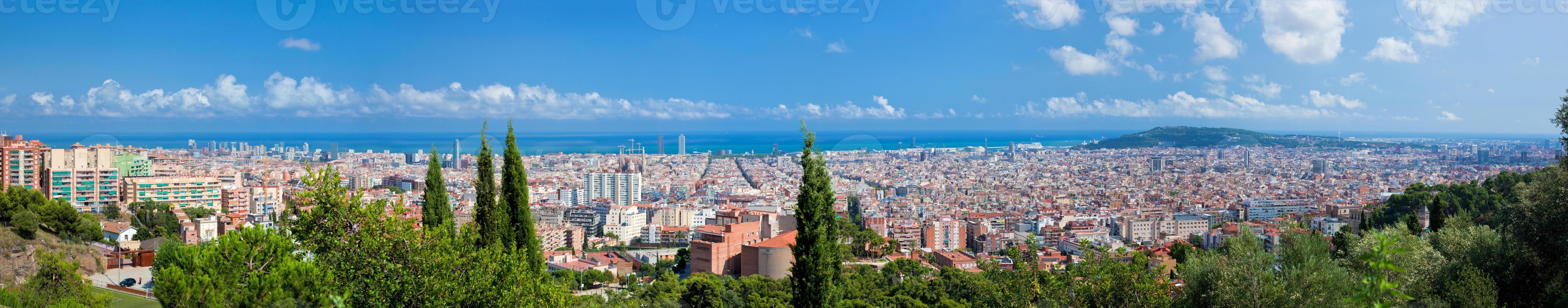 Barcelona, Spanje skyline panorama foto