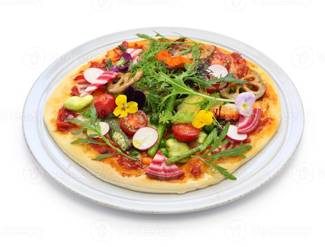 gezonde groentepizza foto