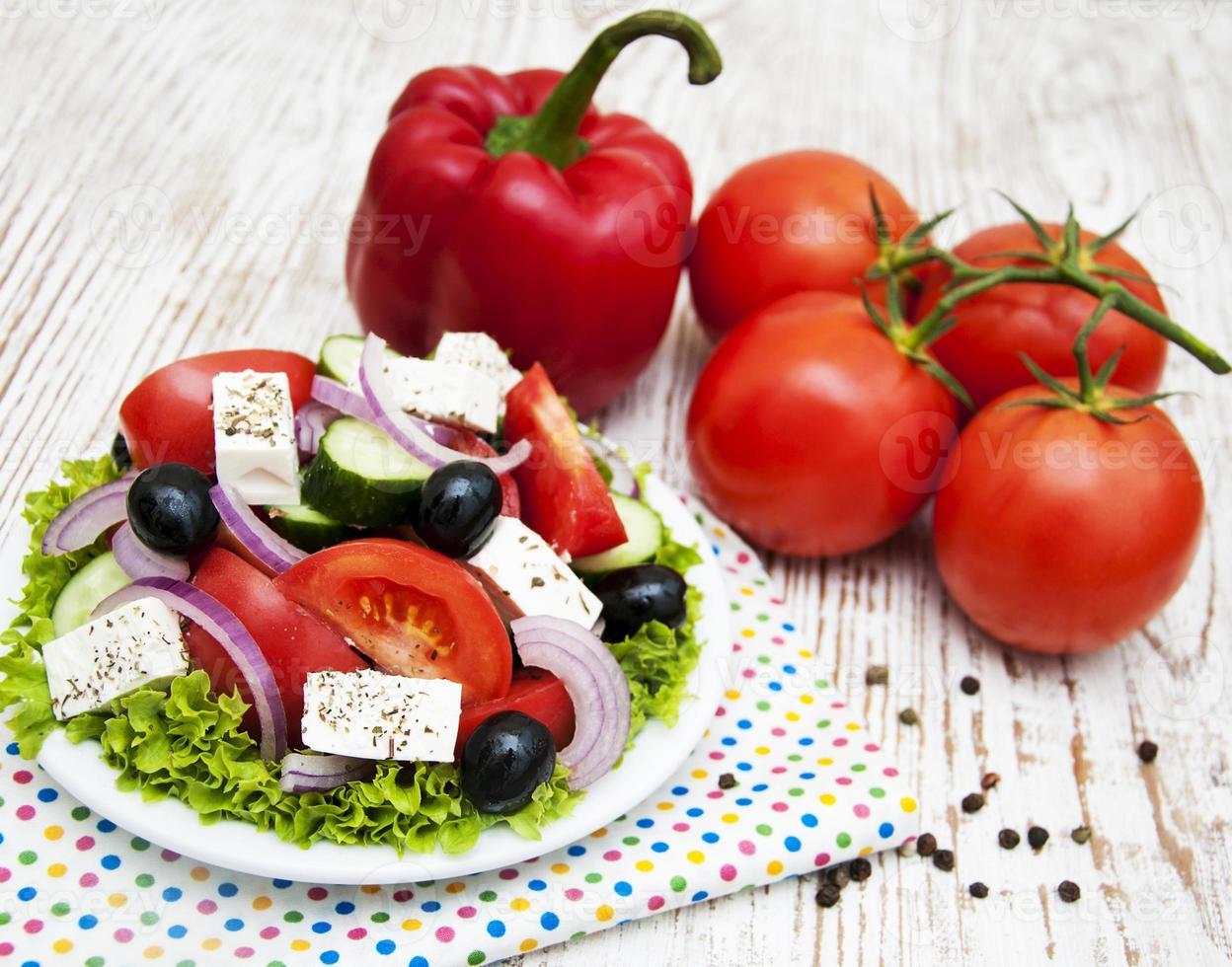 verse Griekse salade foto