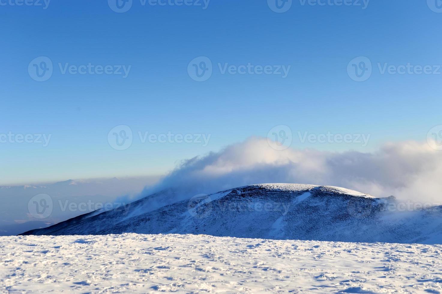 prachtig winterlandschap foto