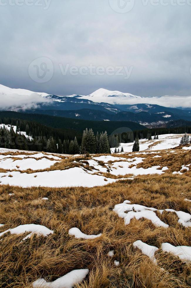 winter berglandschap foto