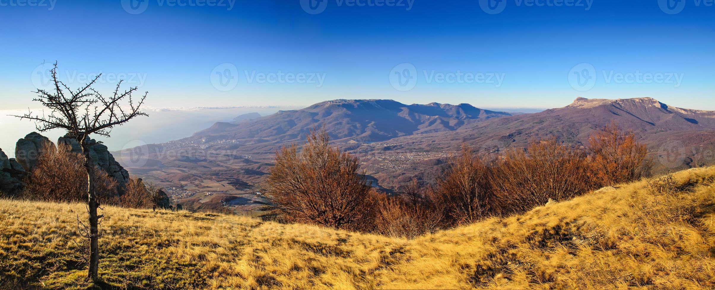 herfst berglandschap foto