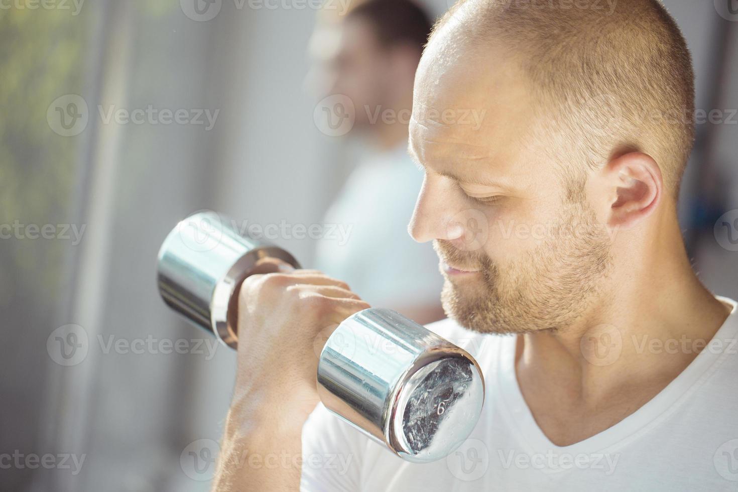 gewichtheffen oefening foto