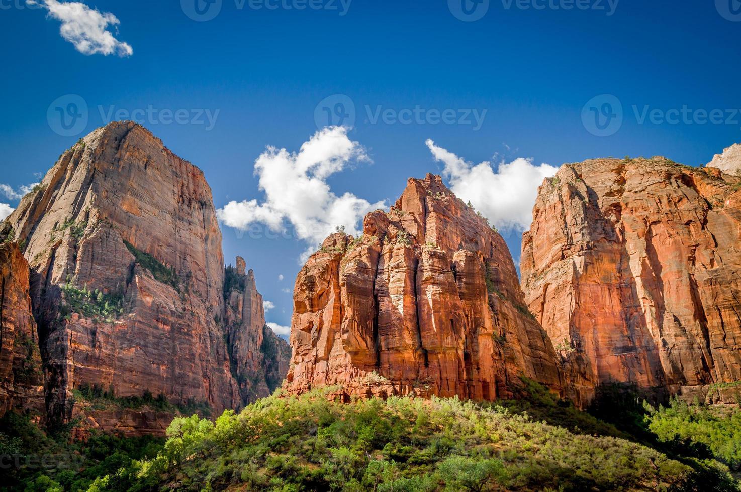 nationaal park zion landschap foto