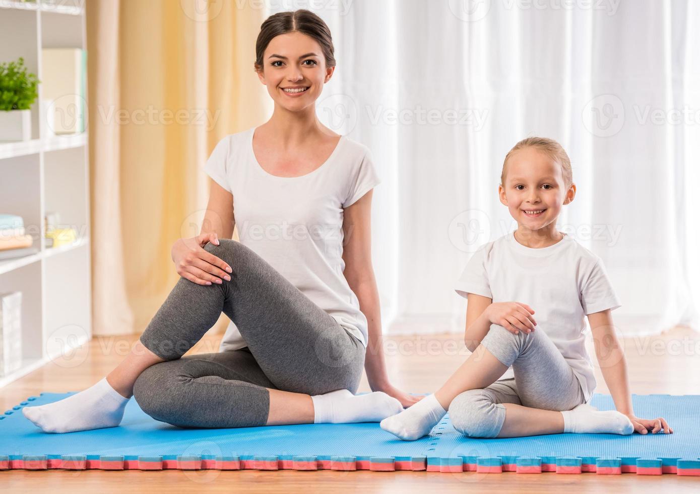 yoga thuis foto