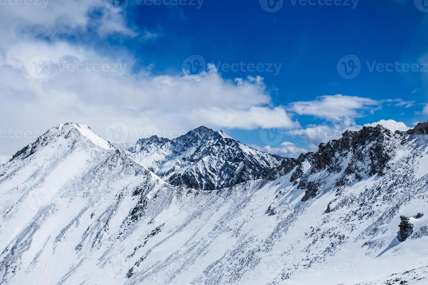 prachtig landschap van bergen. foto
