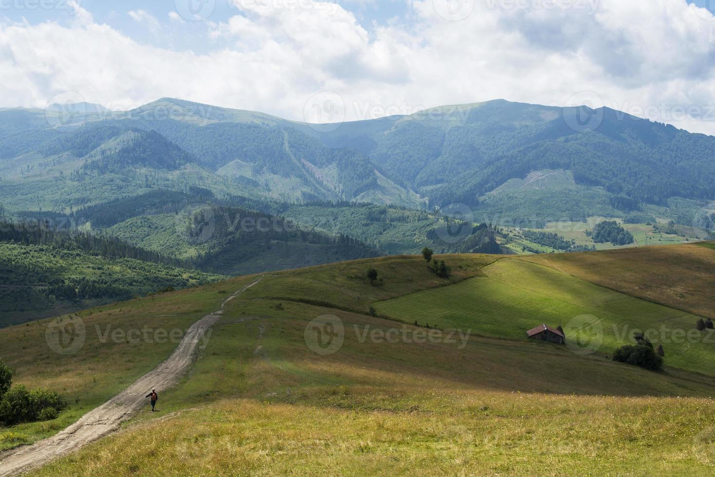 landschap in de Oekraïense Karpaten foto