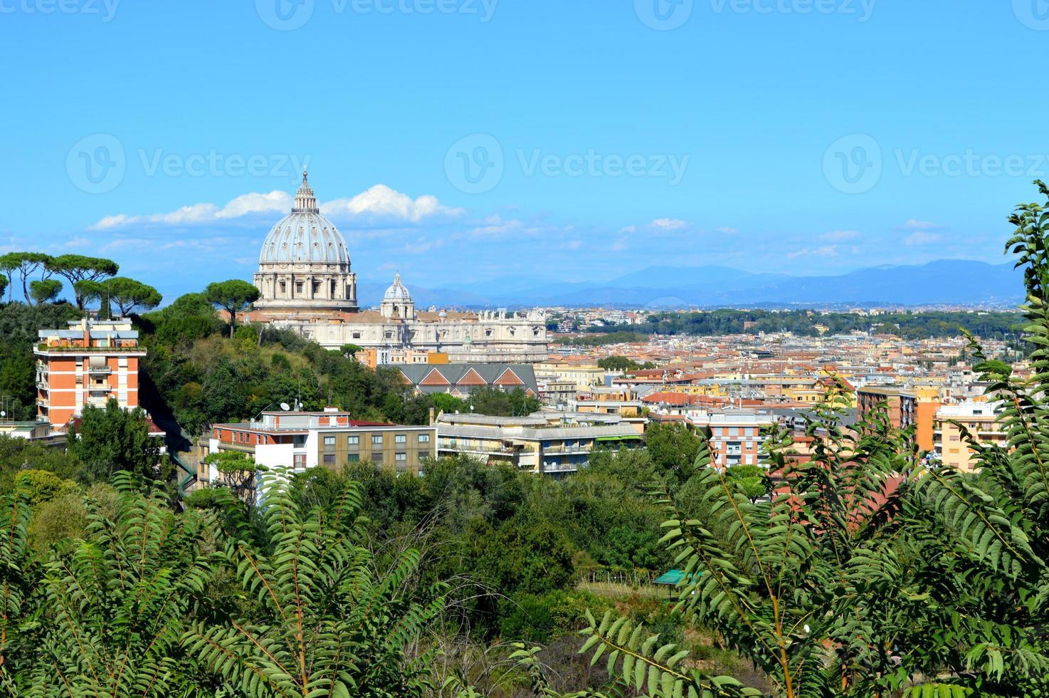 Rome landschap en koepel foto