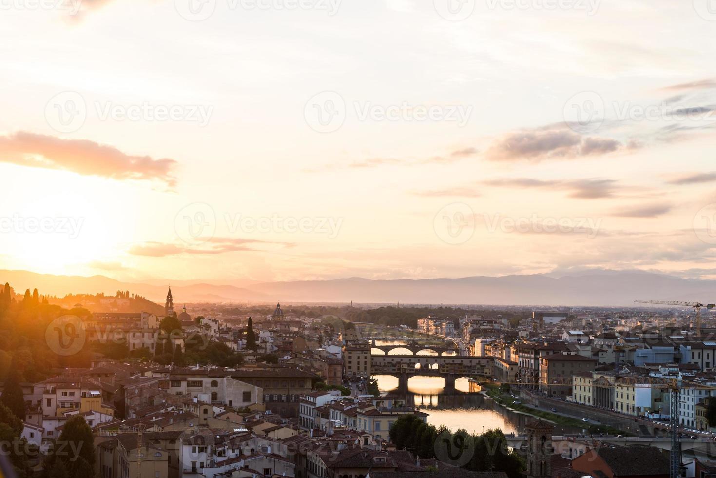 landschap van de stad florence foto