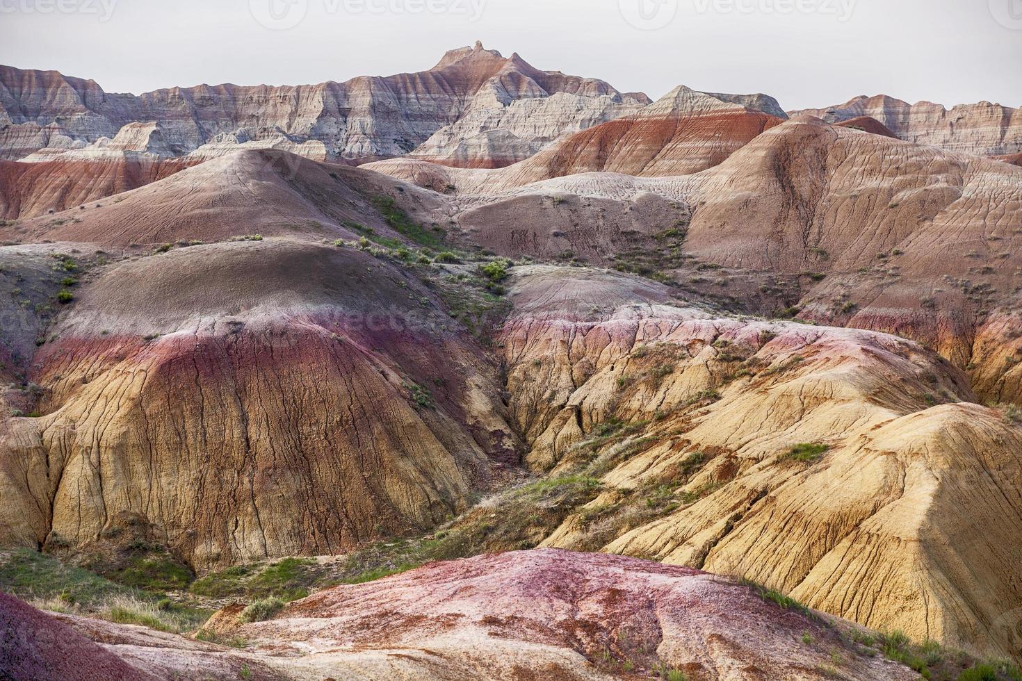 landschapskleuren in het nationale park badlands foto