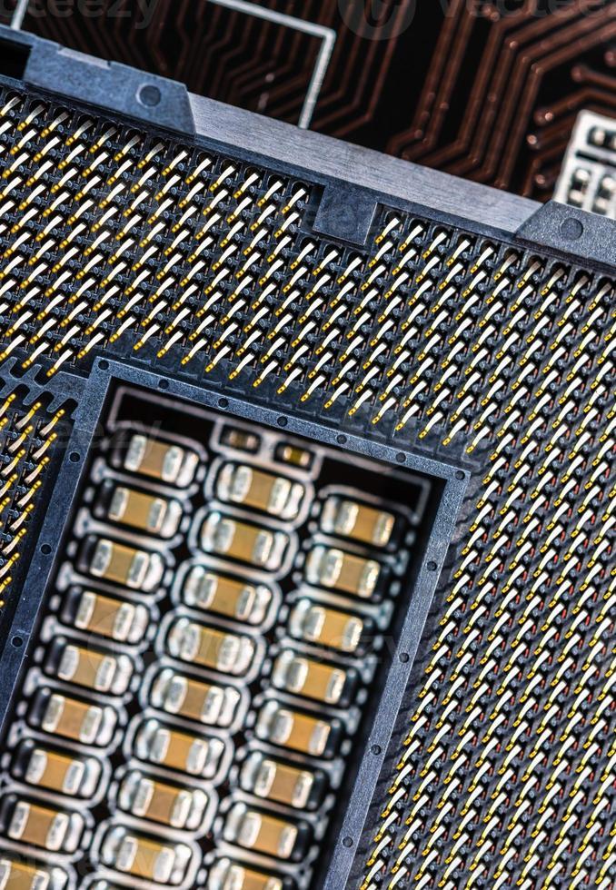 computer stopcontact close-up foto